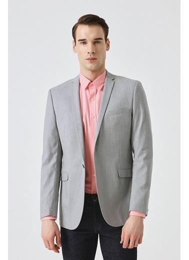 Tween Slim Fit Düz Kumaş Ceket Gri